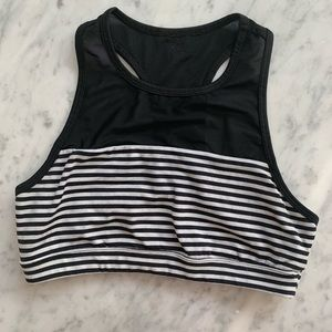 Sports bra mesh top and stripes cute forever 21